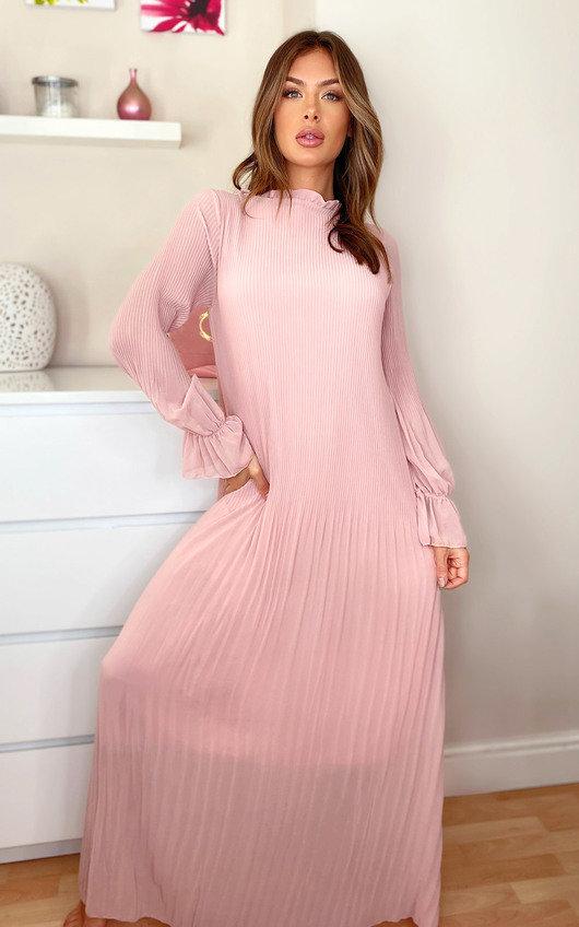 Tiffany Pleated Maxi Dress
