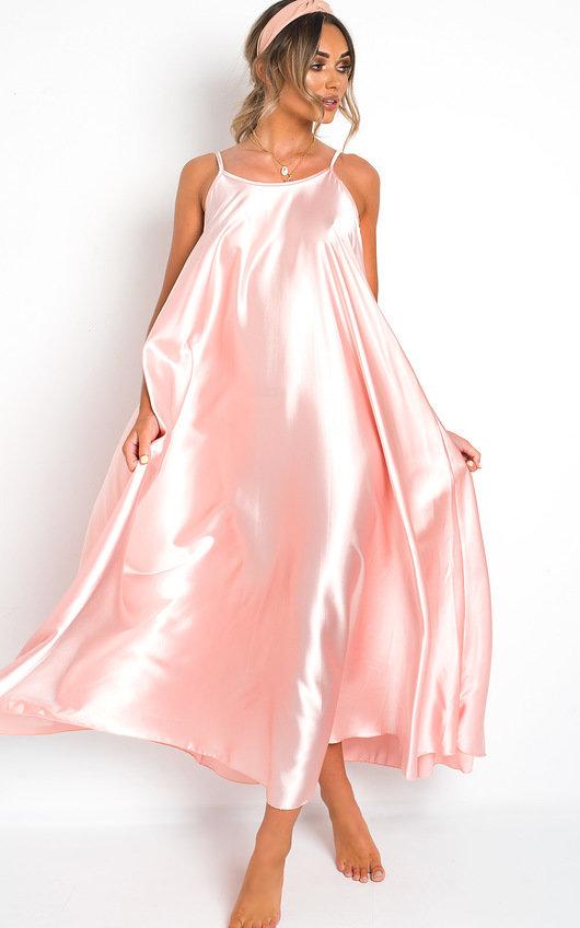 Tiffany Satin Maxi Slip Dress