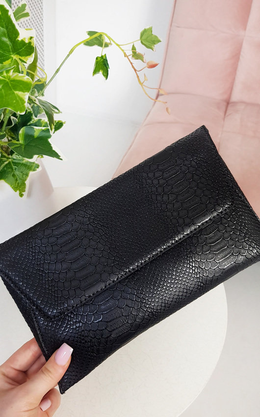 Tilda Faux Leather Envelope Clutch Bag