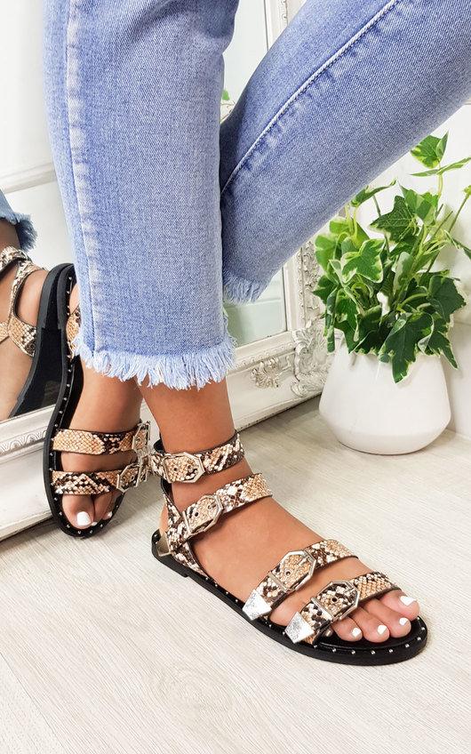 Tillie Double Strap Studded Sandals