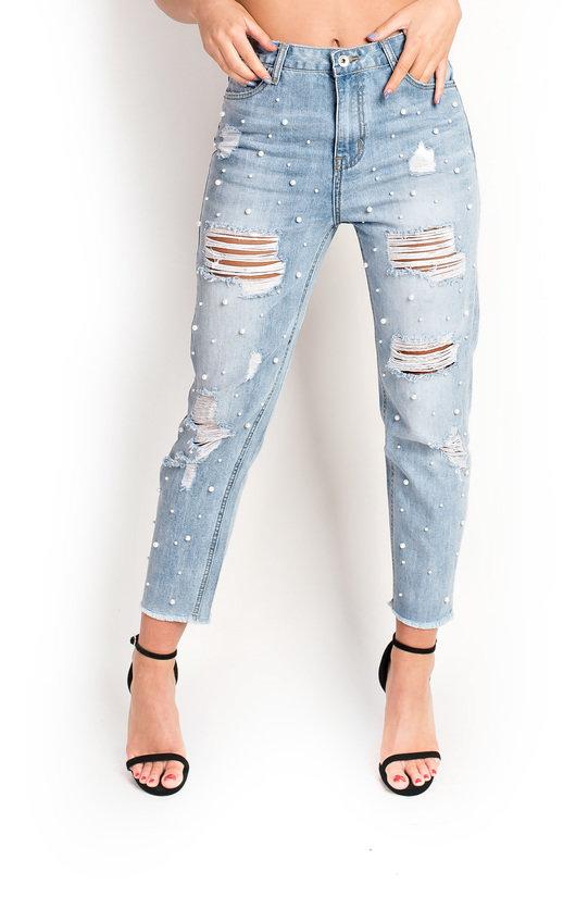 Tillie Embellished Distressed Jeans