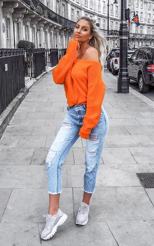Tillie Distressed Denim Jeans