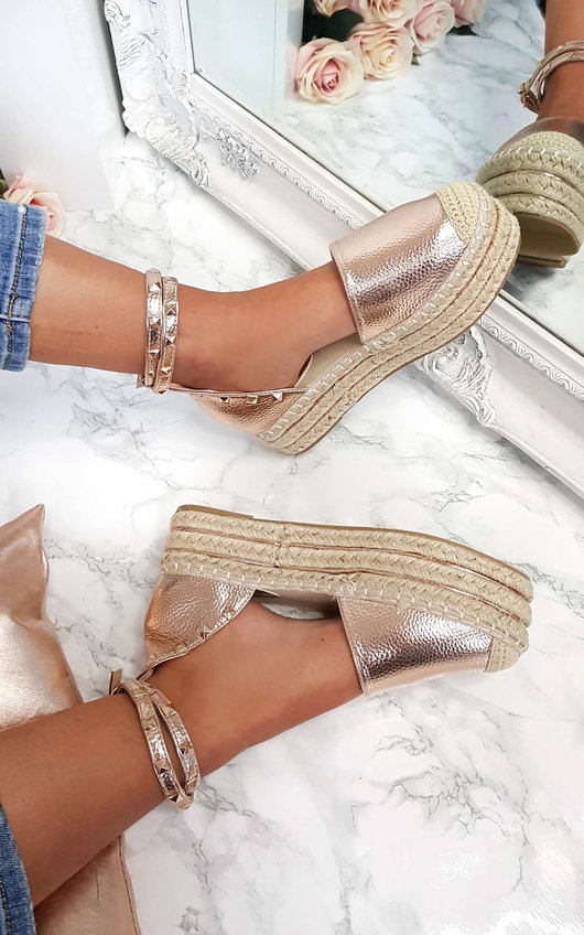 Tilly Studded Espadrille Wedge Sandal