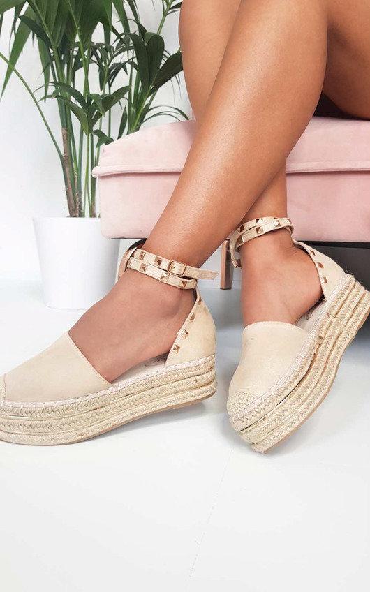 Tilly Studded Espadrille Wedge Sandal