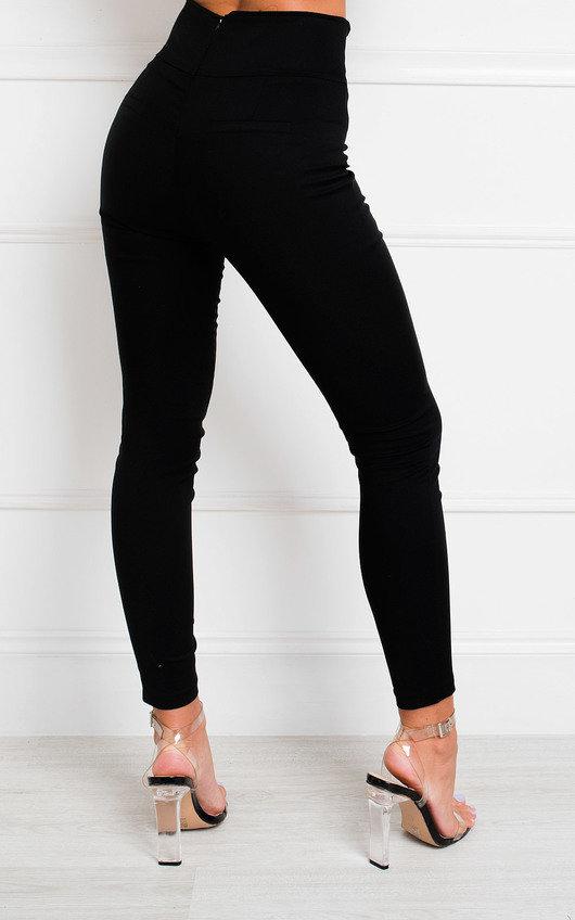 Tina Double Button High Waist Trousers