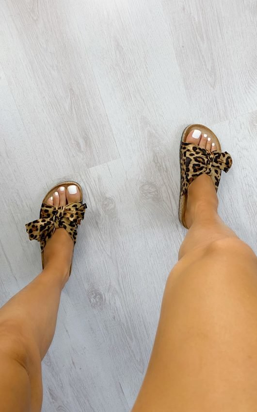 Tina Faux Suede Bow Sandals