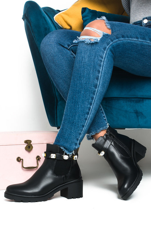 Tina Jewelled Chelsea Ankle Boots