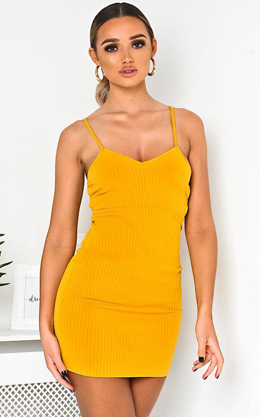 Tina Ribbed Backless Mini Dress