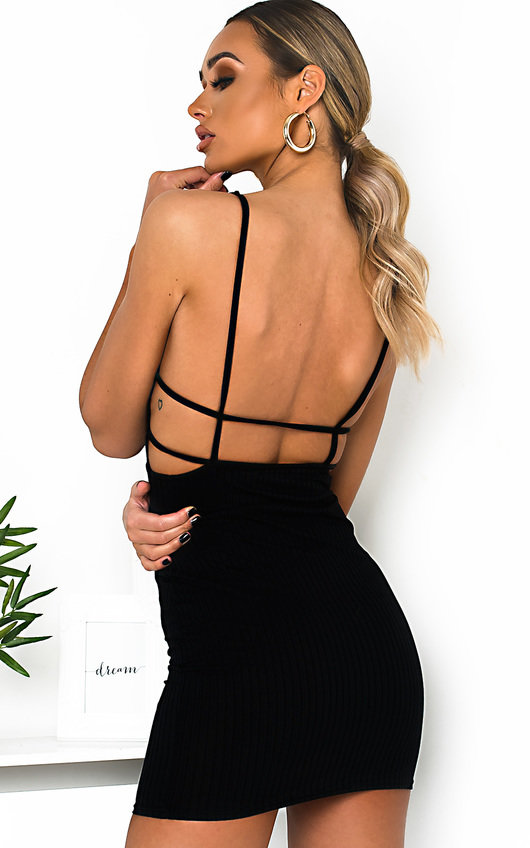 Tina Ribbed Backless Mini Dress