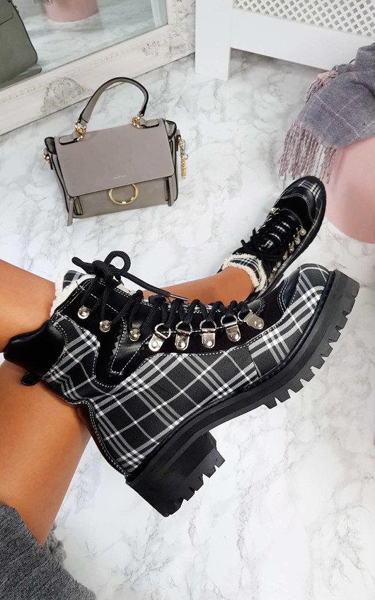 Toni Faux Fur Lace Up Desert Boots