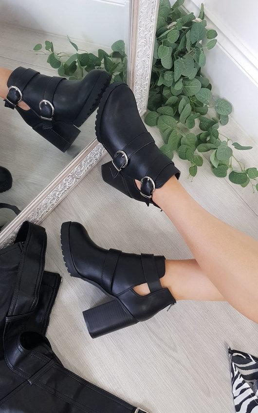 Tori Buckle Heeled Boots