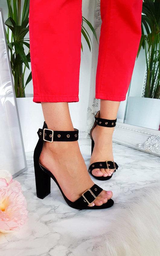 Tori Buckle Strap Sandal Heels