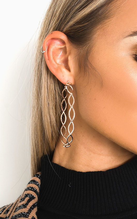 Trina Detailed Hoop Earrings