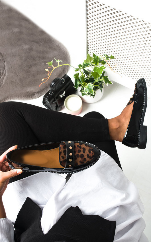 Tris Patent Flat Loafer