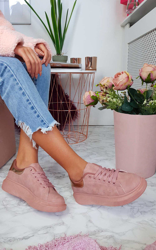 Trixi Faux Suede Trainers