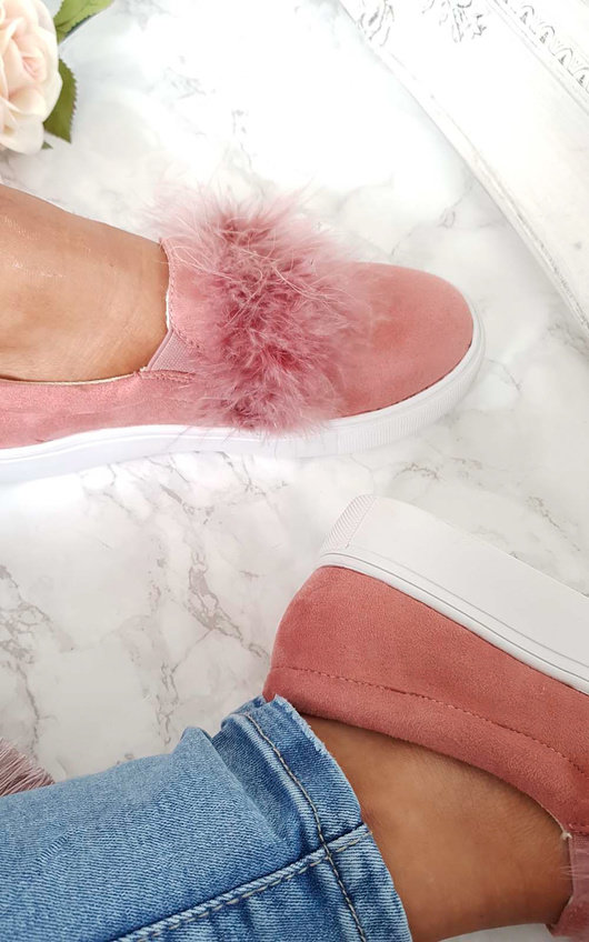 Trixie Faux Suede Fluffy Trainers