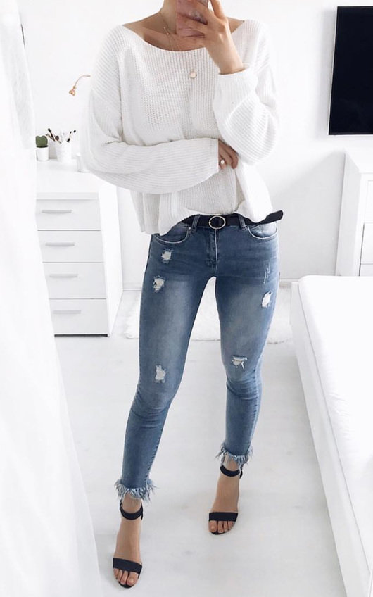 Trixie Frayed Ankle Graze Jeans