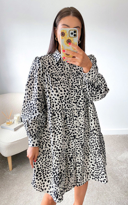 Twiggy Oversized Shirt Dress