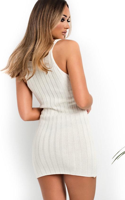 Tyla Knitted Button Mini Dress
