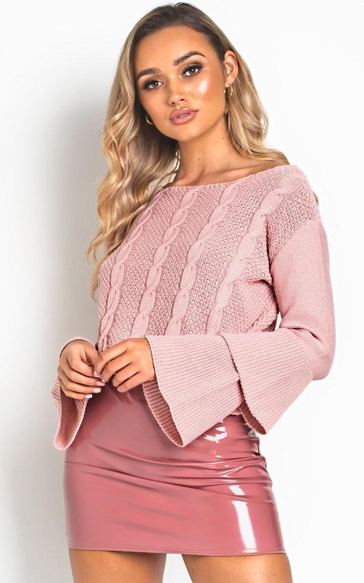Ula Knit Bell-Sleeve Crop Jumper