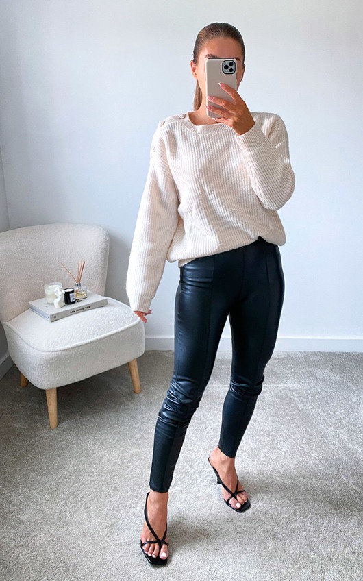 Uma Knitted Jumper with Pearl Detail