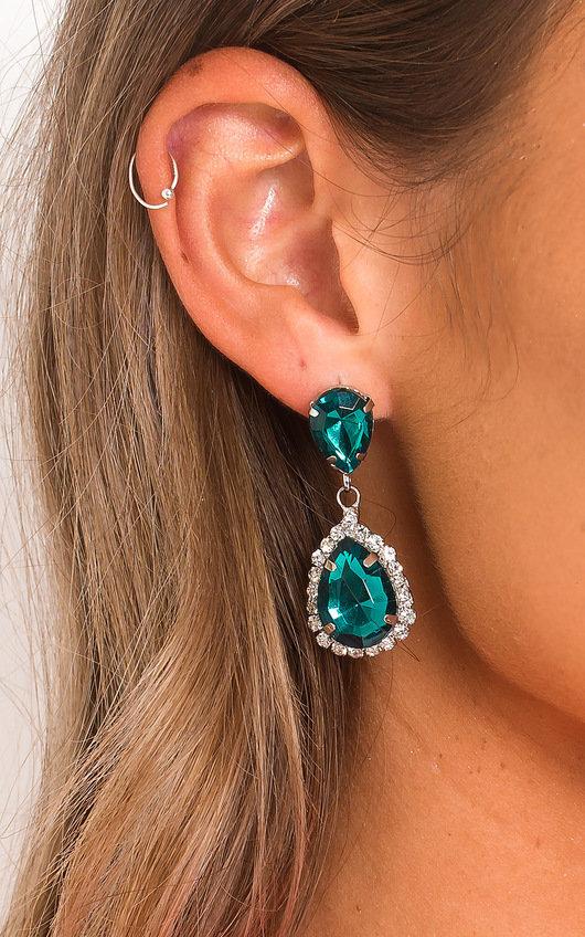 Una Jewel Drop Earrings