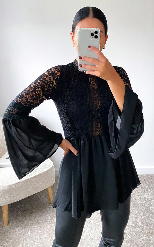 Valentina Lace Embroidered Top