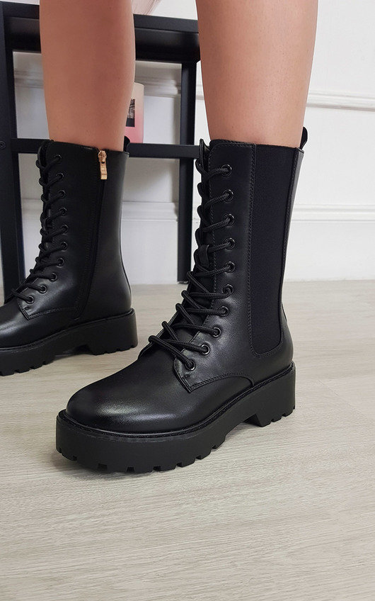 Vanessa Lace Up Chunky Boots