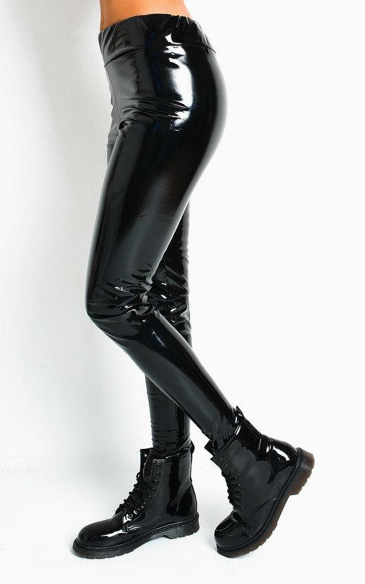 Vanity High Shine PU Leggings