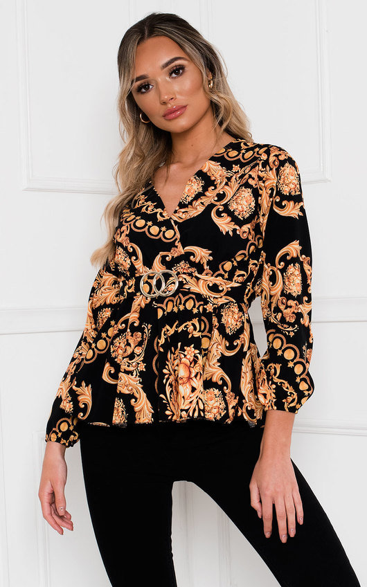 Venice Belted Blouse Top