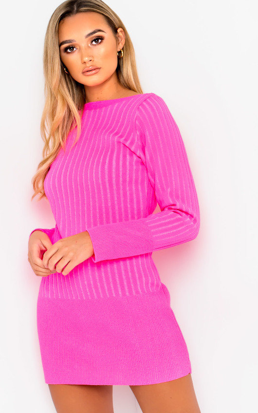 Vera Ribbed Knitted Jumper Dress