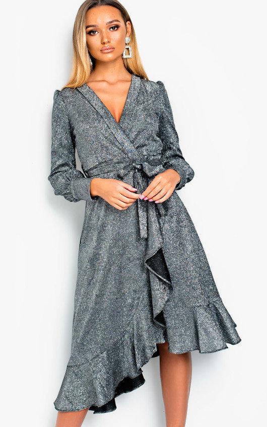 Vera Shimmer Wrap Dress