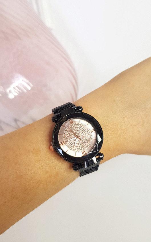 Verity Dark Silver Detail Watch