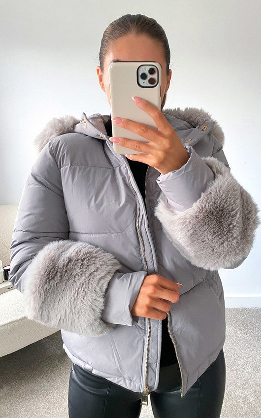 Verity Faux Fur Cuff Jacket