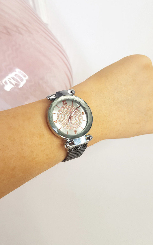 Verity Silver Detail Watch