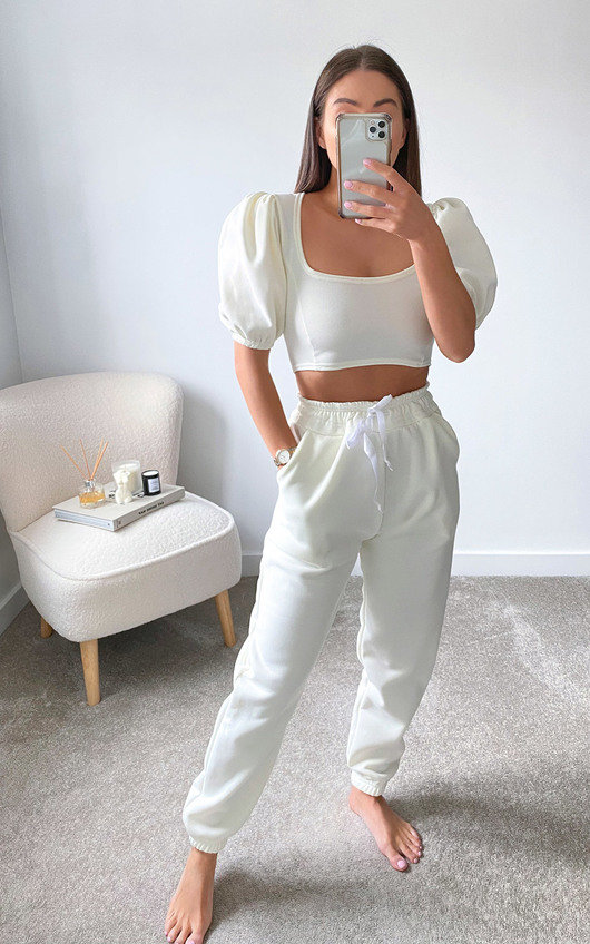 Vic Cropped Puff Sleeve Co-ord