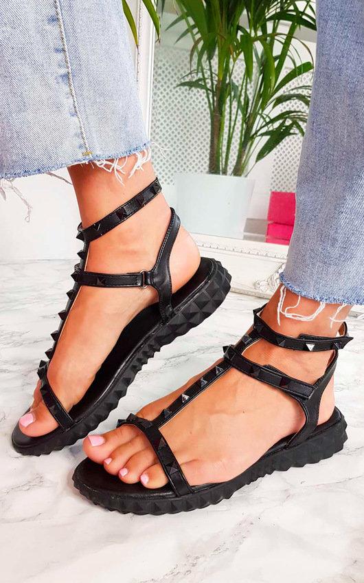 Vinnie Studded Chunky Sole Sandals