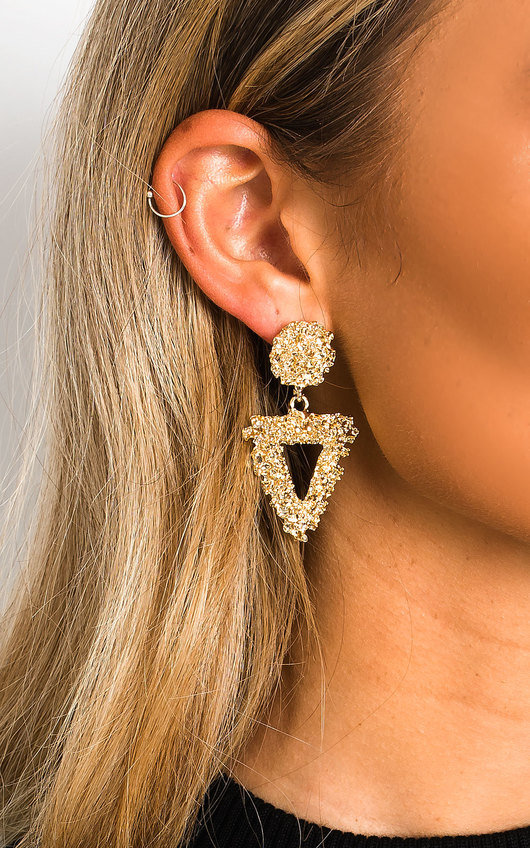 Virgo Statement Mini Drop Earrings