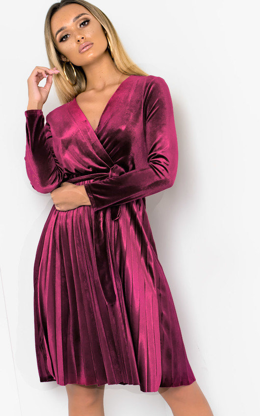 Virgo Velvet Tie Wrap Dress