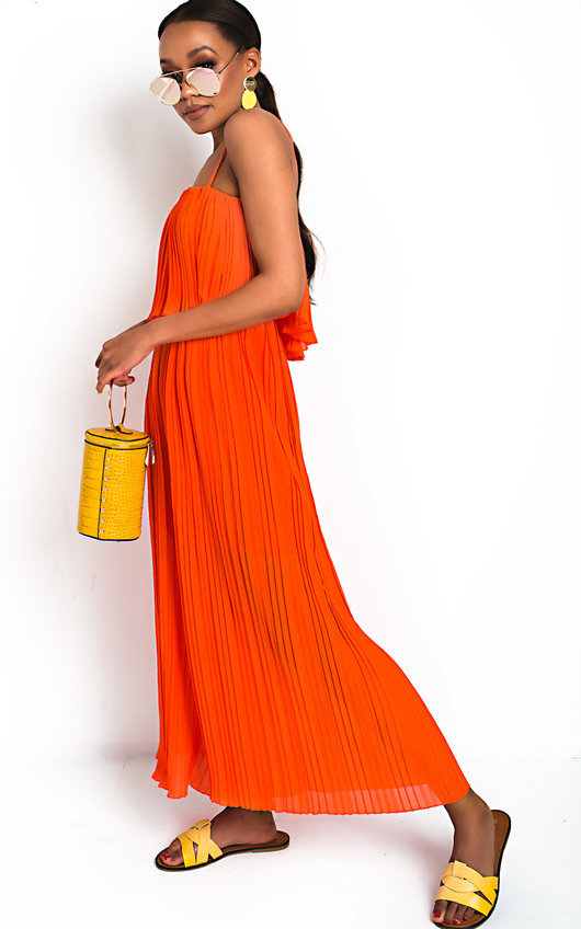 Viv Pleated Overlay Jumpsuit