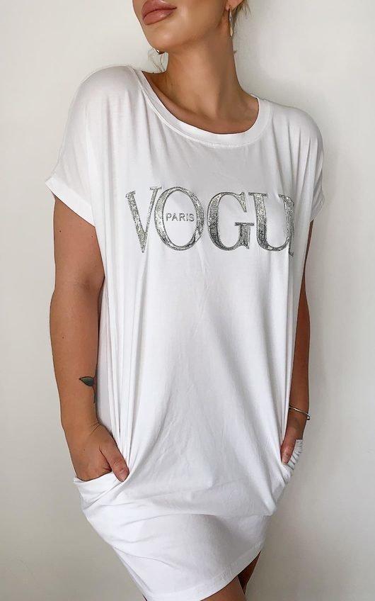 Vogue Oversized Slogan Top
