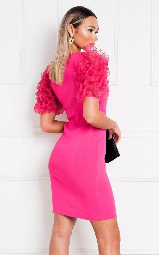 Willa Ruffle Sleeve Jumper Dress