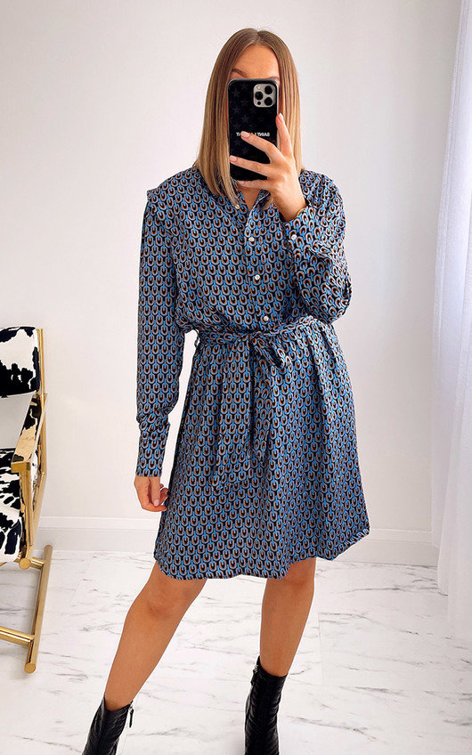 Willow Belted Printed Shirt Dress