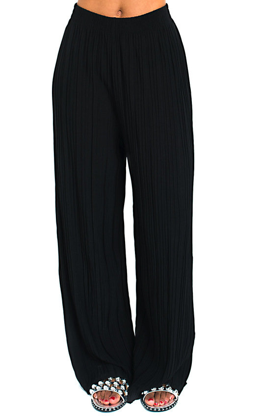 Willow Wide Leg Pleated Trousers