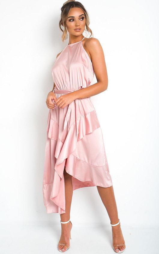 Willow Wrap Frill Midi Dress