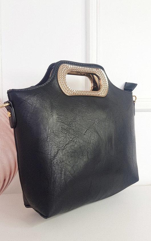 Winnie Diamante Handle Tote Bag