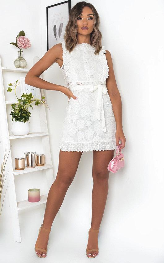 Xanthe Crochet Lace Mini Dress