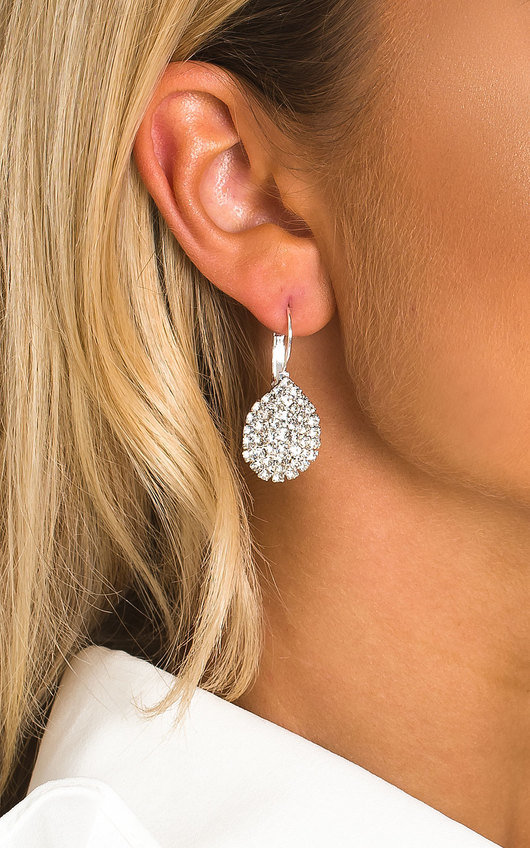 Xanthe Diamante Drop Earrings