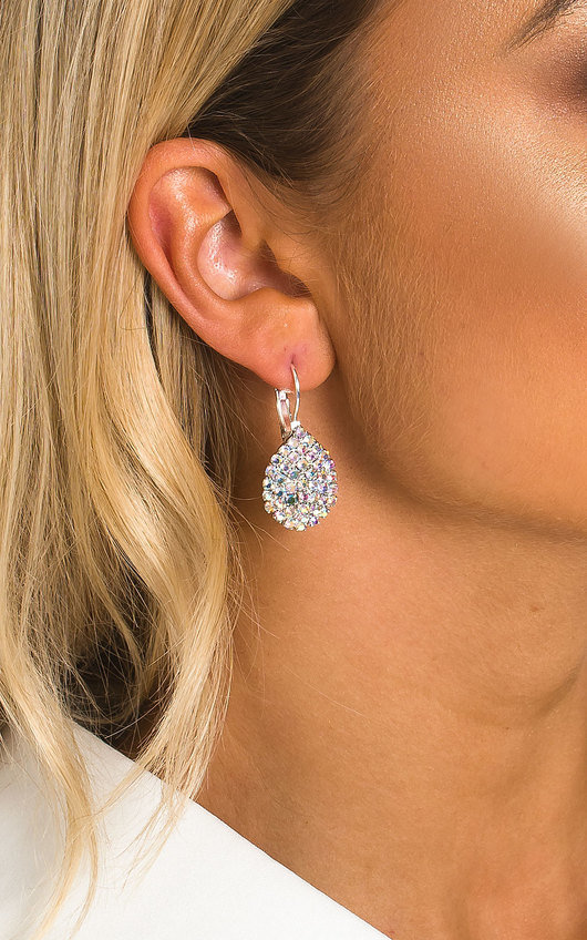 Xanthe Diamante Drop Earrings