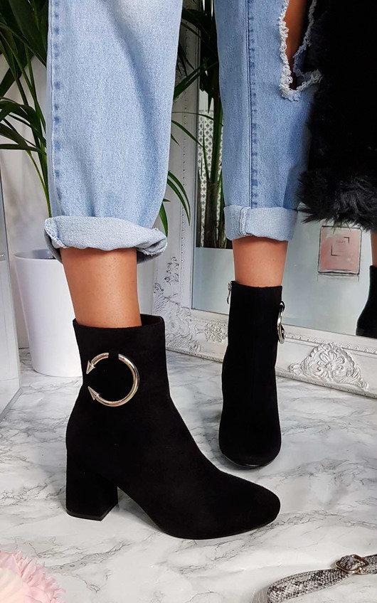 Yana Ring Block Heel Ankle Boots